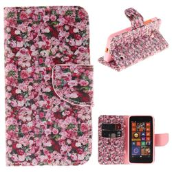 Intensive Floral PU Leather Wallet Case for Nokia Lumia 630 N630