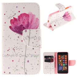 Purple Orchid PU Leather Wallet Case for Nokia Lumia 630 N630