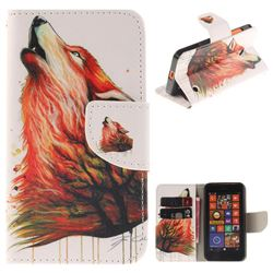 Color Wolf PU Leather Wallet Case for Nokia Lumia 630 N630