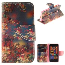 Colored Flowers PU Leather Wallet Case for Nokia Lumia 630 N630