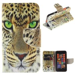 Yellow Tiger PU Leather Wallet Case for Nokia Lumia 630 N630