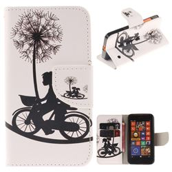 Cycling Dandelion PU Leather Wallet Case for Nokia Lumia 630 N630