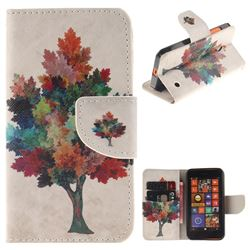 Colored Tree PU Leather Wallet Case for Nokia Lumia 630 N630