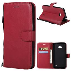 Retro Greek Classic Smooth PU Leather Wallet Phone Case for Nokia Lumia 640 N640 - Red