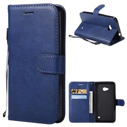 Retro Greek Classic Smooth PU Leather Wallet Phone Case for Nokia Lumia 640 N640 - Blue