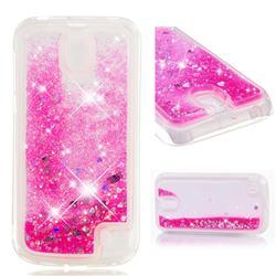 Dynamic Liquid Glitter Quicksand Sequins TPU Phone Case for Nokia 1 - Rose