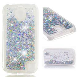 Dynamic Liquid Glitter Quicksand Sequins TPU Phone Case for Nokia 1 - Silver