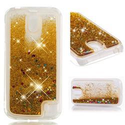 Dynamic Liquid Glitter Quicksand Sequins TPU Phone Case for Nokia 1 - Golden