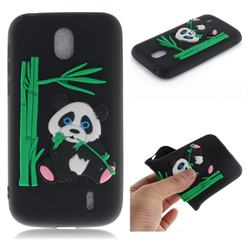 Panda Eating Bamboo Soft 3D Silicone Case for Nokia 1 - Black