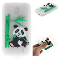 Panda Eating Bamboo Soft 3D Silicone Case for Nokia 1 - Translucent