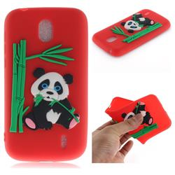 Panda Eating Bamboo Soft 3D Silicone Case for Nokia 1 - Red