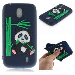 Panda Eating Bamboo Soft 3D Silicone Case for Nokia 1 - Dark Blue