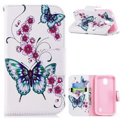 Peach Butterflies Leather Wallet Case for Nokia 1