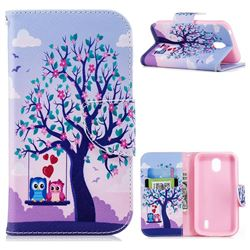 Tree and Owls Leather Wallet Case for Nokia 1