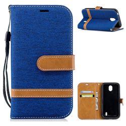Jeans Cowboy Denim Leather Wallet Case for Nokia 1 - Sapphire