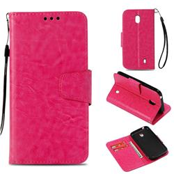 Retro Phantom Smooth PU Leather Wallet Holster Case for Nokia 1 - Rose