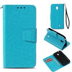 Retro Phantom Smooth PU Leather Wallet Holster Case for Nokia 1 - Sky Blue