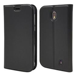 Ultra Slim Card Magnetic Automatic Suction Leather Wallet Case for Nokia 1 - Star Grey