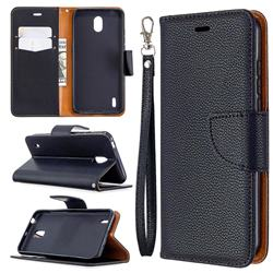 Classic Luxury Litchi Leather Phone Wallet Case for Nokia 1.3 - Black