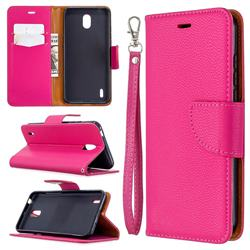Classic Luxury Litchi Leather Phone Wallet Case for Nokia 1.3 - Rose