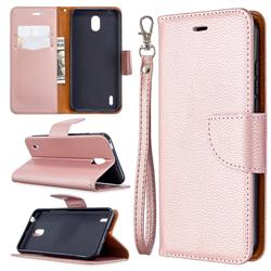 Classic Luxury Litchi Leather Phone Wallet Case for Nokia 1.3 - Golden
