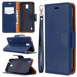 Classic Luxury Litchi Leather Phone Wallet Case for Nokia 1.3 - Blue