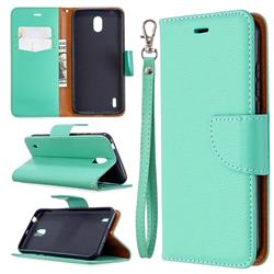 Classic Luxury Litchi Leather Phone Wallet Case for Nokia 1.3 - Green
