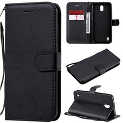 Retro Greek Classic Smooth PU Leather Wallet Phone Case for Nokia 1.3 - Black