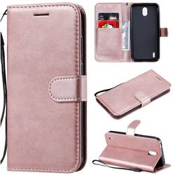 Retro Greek Classic Smooth PU Leather Wallet Phone Case for Nokia 1.3 - Rose Gold