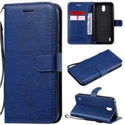 Retro Greek Classic Smooth PU Leather Wallet Phone Case for Nokia 1.3 - Blue