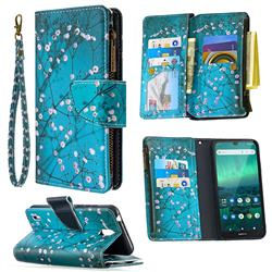Blue Plum Binfen Color BF03 Retro Zipper Leather Wallet Phone Case for Nokia 1.3