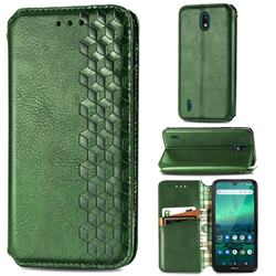 Ultra Slim Fashion Business Card Magnetic Automatic Suction Leather Flip Cover for Nokia 1.3 - Green