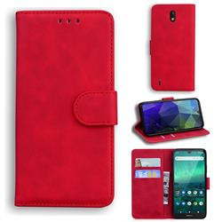 Retro Classic Skin Feel Leather Wallet Phone Case for Nokia 1.3 - Red
