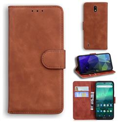 Retro Classic Skin Feel Leather Wallet Phone Case for Nokia 1.3 - Brown
