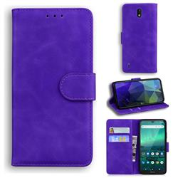 Retro Classic Skin Feel Leather Wallet Phone Case for Nokia 1.3 - Purple