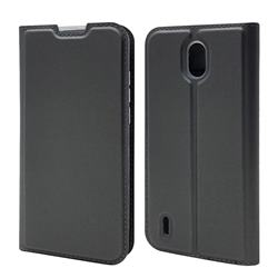 Ultra Slim Card Magnetic Automatic Suction Leather Wallet Case for Nokia 1.3 - Star Grey