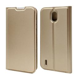 Ultra Slim Card Magnetic Automatic Suction Leather Wallet Case for Nokia 1.3 - Champagne