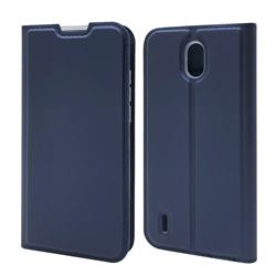 Ultra Slim Card Magnetic Automatic Suction Leather Wallet Case for Nokia 1.3 - Royal Blue