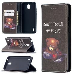 Chainsaw Bear Slim Magnetic Attraction Wallet Flip Cover for Nokia 1.3