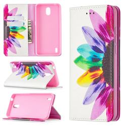 Sun Flower Slim Magnetic Attraction Wallet Flip Cover for Nokia 1.3