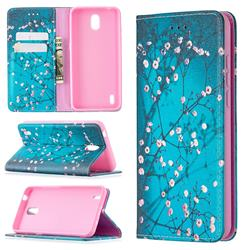Plum Blossom Slim Magnetic Attraction Wallet Flip Cover for Nokia 1.3