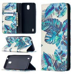 Blue Leaf Slim Magnetic Attraction Wallet Flip Cover for Nokia 1.3
