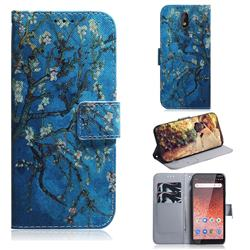 Apricot Tree PU Leather Wallet Case for Nokia 1 Plus (2019)
