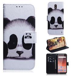 Sleeping Panda PU Leather Wallet Case for Nokia 1 Plus (2019)