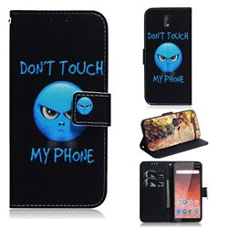 Not Touch My Phone PU Leather Wallet Case for Nokia 1 Plus (2019)