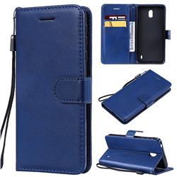 Retro Greek Classic Smooth PU Leather Wallet Phone Case for Nokia 1 Plus (2019) - Blue
