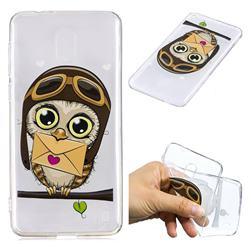 Envelope Owl Super Clear Soft TPU Back Cover for Nokia 2