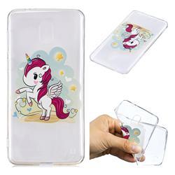 Cloud Star Unicorn Super Clear Soft TPU Back Cover for Nokia 2