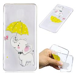 Umbrella Elephant Super Clear Soft TPU Back Cover for Nokia 2