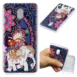 Totem Flower Elephant Super Clear Soft TPU Back Cover for Nokia 2